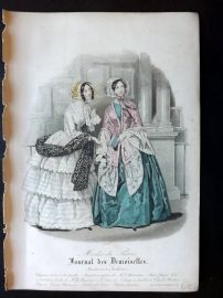 Journal des Demoiselles C1850 Antique Hand Col Fashion Print 84
